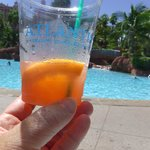 drinks at poolside