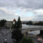 View from our room at Ma Maison Hotel in Prague