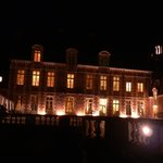 Das Chateau am Abend nach dem Essen