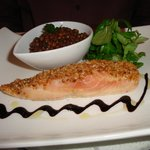 Salmon with lentils appy