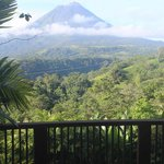Morning view of Arenal volcano from Alta Vista Room
