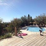 The peaceful pool area