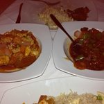 Honey beef and Chilli Chicken