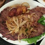 skirt steak with onion