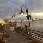 Dinner at sunset on the Cape Fear River