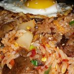 Spicy Kimchi Fried Rice. Great flavor and spicy!