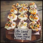 little carrot cakes with cream cheese icing