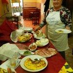 la Signora   Filomena  e sui gustosissimi piatti..