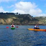Kayaking at Petit Bot, Guernsey