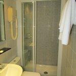 Bathroom with spacious shower