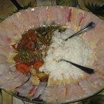 Hernan's catch becomes fresh cut sashimi with stir fry