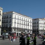Elegant Buildings on the Puerta del Sol - hotel is on the far right