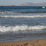 Chrissi Acti beach nearby - view towards Akrotiri peninsula