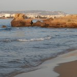 Chrissi Acti beach nearby - view towards Chania