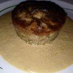 Tortino di funghi porcini in letto di foie gras