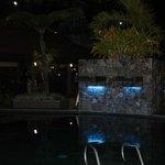 Pool area evening