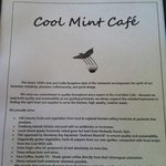 Cool Mint uses locally produced foods for their delicious, healthy dishes.