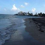 Beach with yatch club