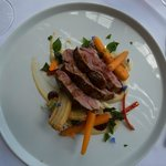 Lamb with banana, chilli, sage and carrots