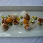 Scallops with compressed mellon