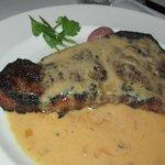 kona-crusted sirloin w/shallot butter