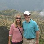 Jennifer and John at Ping'an village.