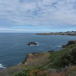 Mendocino from the coast line