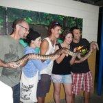 大蛇を持ったり首に巻いたり・・・!!