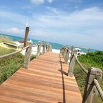 walkway from hotel to beach area.