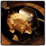 Pumpkin Bread Pudding with Homemade Chai Ice Cream. Perfect for October! Yum!