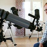 Co-director Tommy Jonsson with his telescope.
