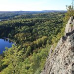 """Tip: Algonquin Park trail """"Centennial Ridge"""", go backwards directly to point #12 to see best vie"""