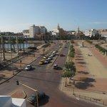 Vista do terraço (o hotel tem apenas 3 andares) em frente à Cidade Murada