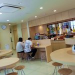 Breakfast cafeteria with free beverages during breakfast hours & microwave for guest use 24hrs
