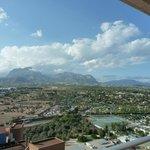View from balcony around the corner