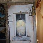 murales che si trova in cucina colazione