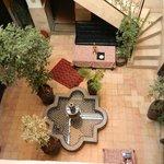 vue du patio, de la terrasse