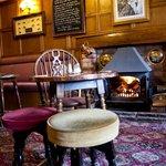 Traditional oak panelled bar