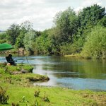 Coarse fishing on part of our exclusive 4 mile stretch of the Moccas Fishery
