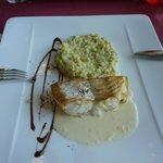 Filet de Julienne, rsisotto au pistou