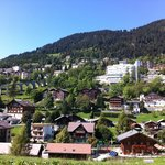 view of Leysin village
