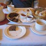 Tea, scones, and biscuits