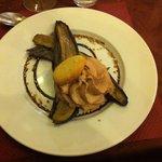 Banane cuite et mousse de nutella :-)