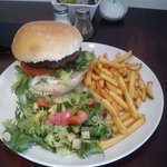 Burger, Fries and Salad £5