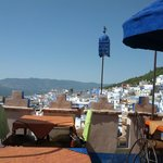 Rooftop view at Chefchaouen