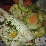 Filetto di branzino con verdure