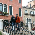 On the bridge outside the Palazzetto
