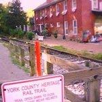 historic rail trail and tracks