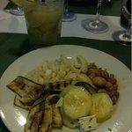 my salad & Caipirinia