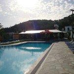 Pool & Paved Sunbed Area